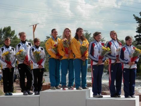National anthem. Bronze in team runs at World Championships 2012